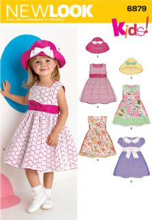 6879 New Look Pattern: Toddler Dresses